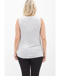Forever 21 - Gray French Bulldog Muscle Tee - Lyst