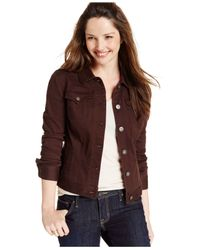 Style & Co. Brown Colored Denim Jean Jacket