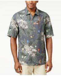 Lyst tommy bahama harbour lights holiday shirt in gray for Tommy bahama christmas shirt 2014
