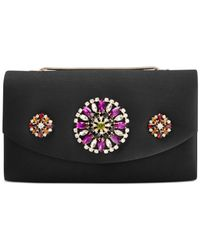 Badgley Mischka | Black Myley Clutch | Lyst
