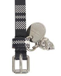 Alexander McQueen | Black Leather Double Wrap Bracelet for Men | Lyst