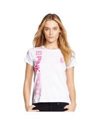 Ralph Lauren - White Pink Pony Cotton Graphic Tee - Lyst