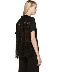 Sacai Black Star Lace T-shirt