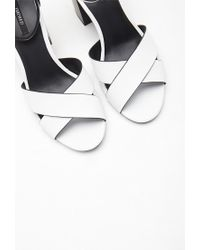 Forever 21 | White Crisscross Ankle Strap Heels | Lyst