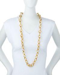 Stephanie Kantis - Metallic Element Square Link Chain Necklace - Lyst