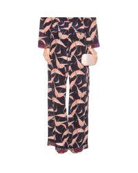 Valentino - Multicolor Printed Silk Trousers - Lyst