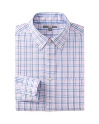 Uniqlo - Pink Men Easy Care Check Long Sleeve Shirt for Men - Lyst