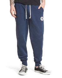 Converse Blue 'core' Sweatpants for men