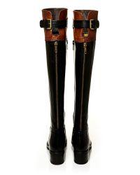 Moda In Pelle Black Violas Low Smart Long Boots
