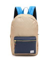 Herschel Supply Co. - Blue Settlement Backpack Khaki Polka Dot - Lyst