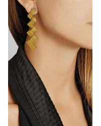 Fred Leighton - Metallic 1960S 14-Karat Gold Mesh Clip Earrings - Lyst