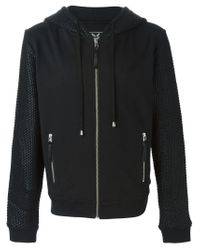 Unconditional - Black Contrast Sleeve Hoodie for Men - Lyst