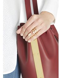 Joomi Lim | Metallic 16kt Gold-plated Faux Pearl Rings - Set Of Two | Lyst