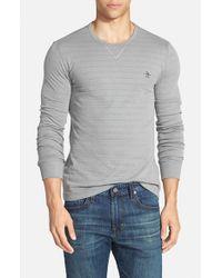 Original Penguin - Gray Slim Fit Reversible Crewneck Sweater for Men - Lyst