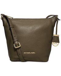 Michael Kors | Green Michael Bedford Medium Messenger Bag | Lyst