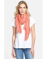 Halogen - Orange Cashmere Blend Scarf - Coral - Lyst