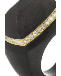 Finds | Black + Catherine Prevost 18-Karat Gold, Ebony And Diamond Ring | Lyst