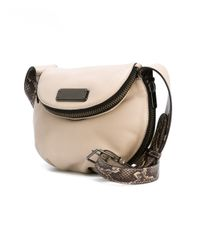Marc By Marc Jacobs - Natural Mini 'new Q Zippers Natasha' Crossbody Bag - Lyst