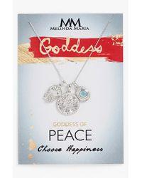 Melinda Maria   Metallic 'Goddess Of Peace' Cluster Pendant Necklace   Lyst