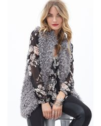 Forever 21 | Gray Contemporary Faux Shearling Vest | Lyst