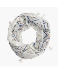 J.Crew - Blue Confetti Snood - Lyst