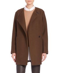Theory | Brown Venizka Camden Wool Twill Coat | Lyst