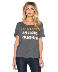 Sundry | Gray Sunday Sunrise Loose Crew Neck Tee | Lyst