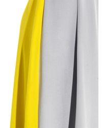 ROKSANDA Gray Bi-colour Silk-blend Skirt