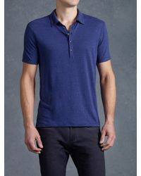 John Varvatos | Blue Short Sleeve Collared Shirt for Men | Lyst