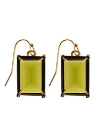 Brooks Brothers - Green Glass Bead Drop Earrings - Lyst