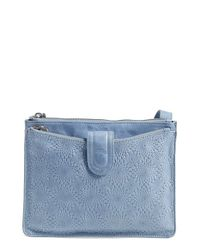 Hobo | Blue 'Goldie' Embossed Leather Crossbody Bag | Lyst