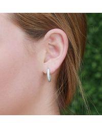 Carolina Bucci White Mirador Sparkly Gold Huggie Earrings