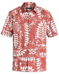 Quiksilver | Red Waterman Kings Point Printed Short-sleeve Shirt for Men | Lyst