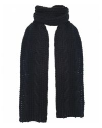 Jules B - Black Soft Cable Knit Scarf for Men - Lyst