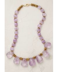 Anthropologie | Purple Amethyst Cascade Necklace | Lyst