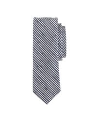 J.Crew | Blue Textured English Silk Tie In Microstripe for Men | Lyst