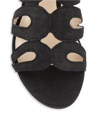 Nine West | Black Turntable Leather Gladiator Sandals | Lyst