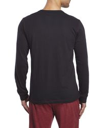 PUMA - Black Sleep Shirt for Men - Lyst