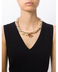 Roberto Cavalli | Metallic Swarovski Snake Necklace | Lyst