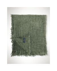 Polo Ralph Lauren | Green Frayed Cotton-blend Scarf | Lyst