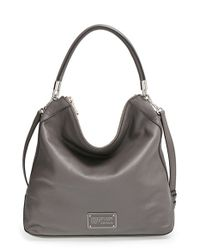 Marc By Marc Jacobs | Gray 'new Too Hot To Handle' Leather Hobo | Lyst
