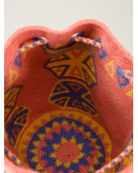 Muzungu Sisters - Pink Mini 'Wayuu Mochila' Shoulder Nag - Lyst