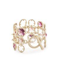Oscar de la Renta | Purple Framed Crystal Bracelet | Lyst
