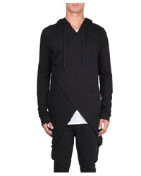 Thom Krom - Black Cotton Hooded Sweatshirt for Men - Lyst