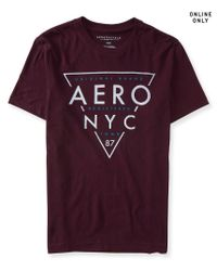 Aéropostale | Purple Aero Nyc Triangle Logo Graphic T | Lyst