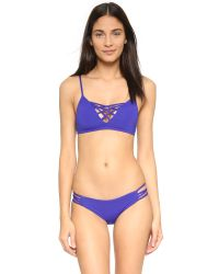 L*Space | Blue Low Down Bikini Bottoms | Lyst