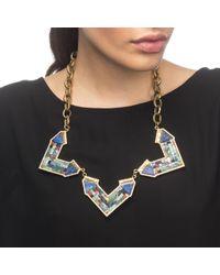 Lulu Frost   Metallic Petra Mosaic Statement Necklace   Lyst