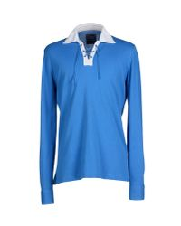 Fedeli | Blue Polo Shirt for Men | Lyst