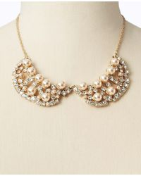 Ann Taylor - Natural Pearlized Collar Necklace - Lyst