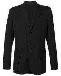 Yohji Yamamoto - Black Layered Pocket Blazer for Men - Lyst